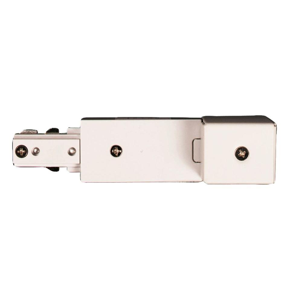 Hampton Bay White Conduit Feed For Linear Track Lighting Ec705wh