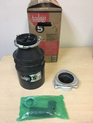 badger 5 12 hp continuous feed garbage disposal badger 5 u2013 garland home center