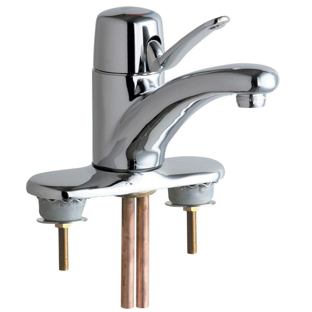 Chicago Faucets Bathroom Faucet in Chrome & Integral Cast Brass ...