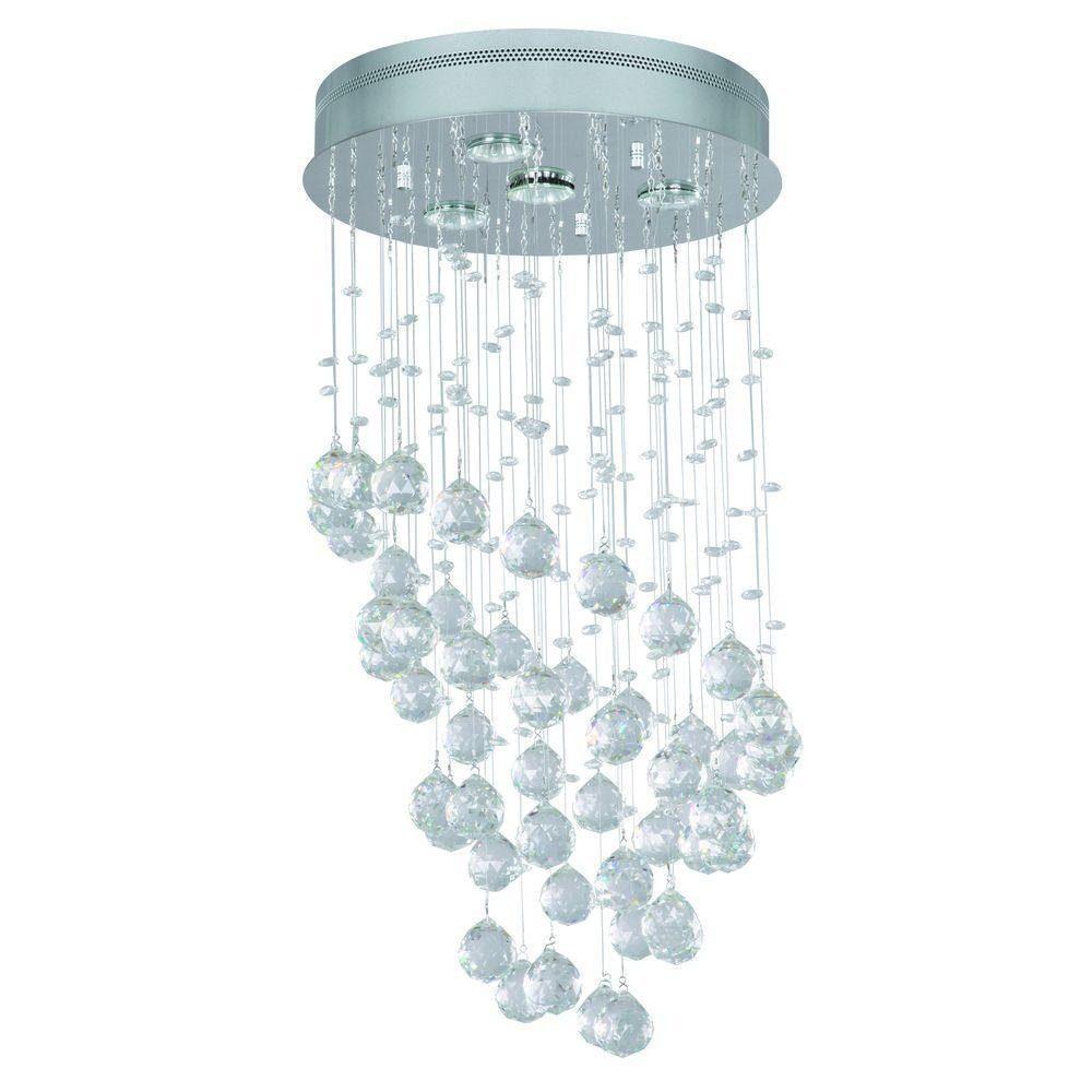 home decorators collection 4-light chrome ceiling chandelier 19161