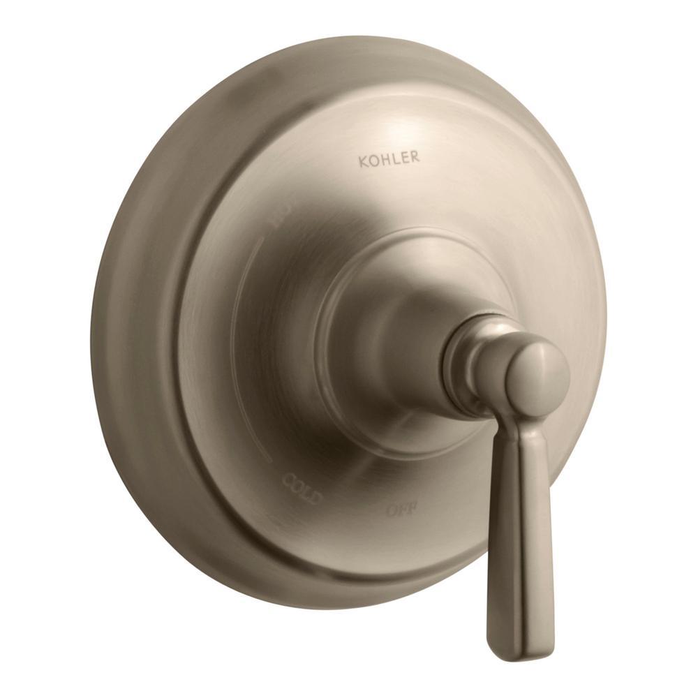 Kohler Bancroft Shower Valve Trim in Vibrant Brushed Bronze (Valve ...