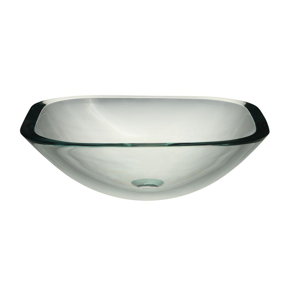 DECOLAV Translucence Glass Vessel Sink ...