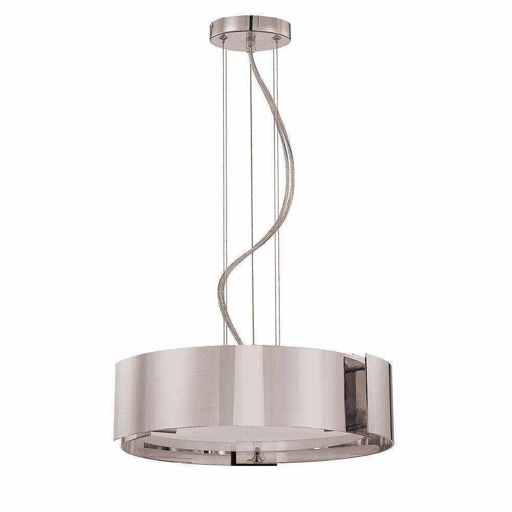 Home Decorators Collection 5 Light Satin Nickel Pendant W Circular Curved Panels