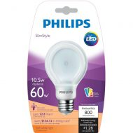 Philips SlimStyle 65W Soft White A19 Dimmable LED w/CRI 90 Bulb (Lot of 10)