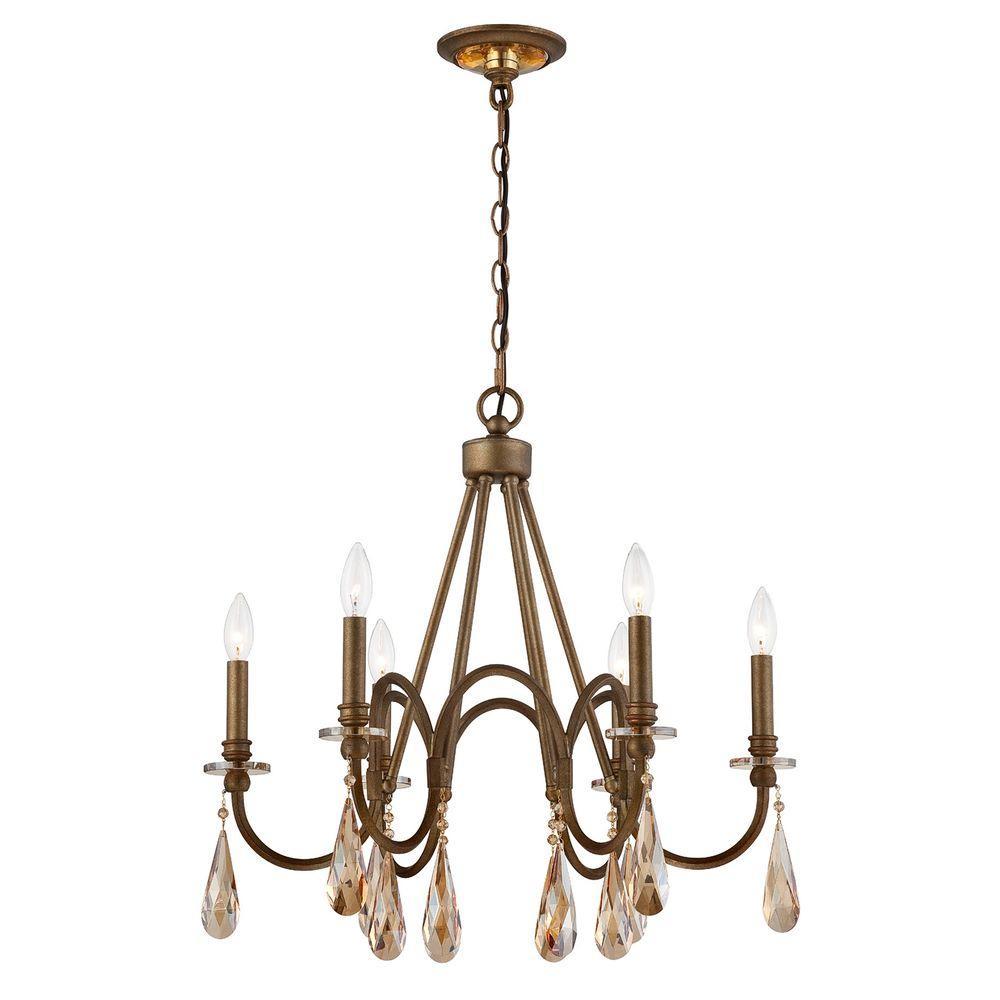 home decorators collection 6 light bronze chandelier oversized