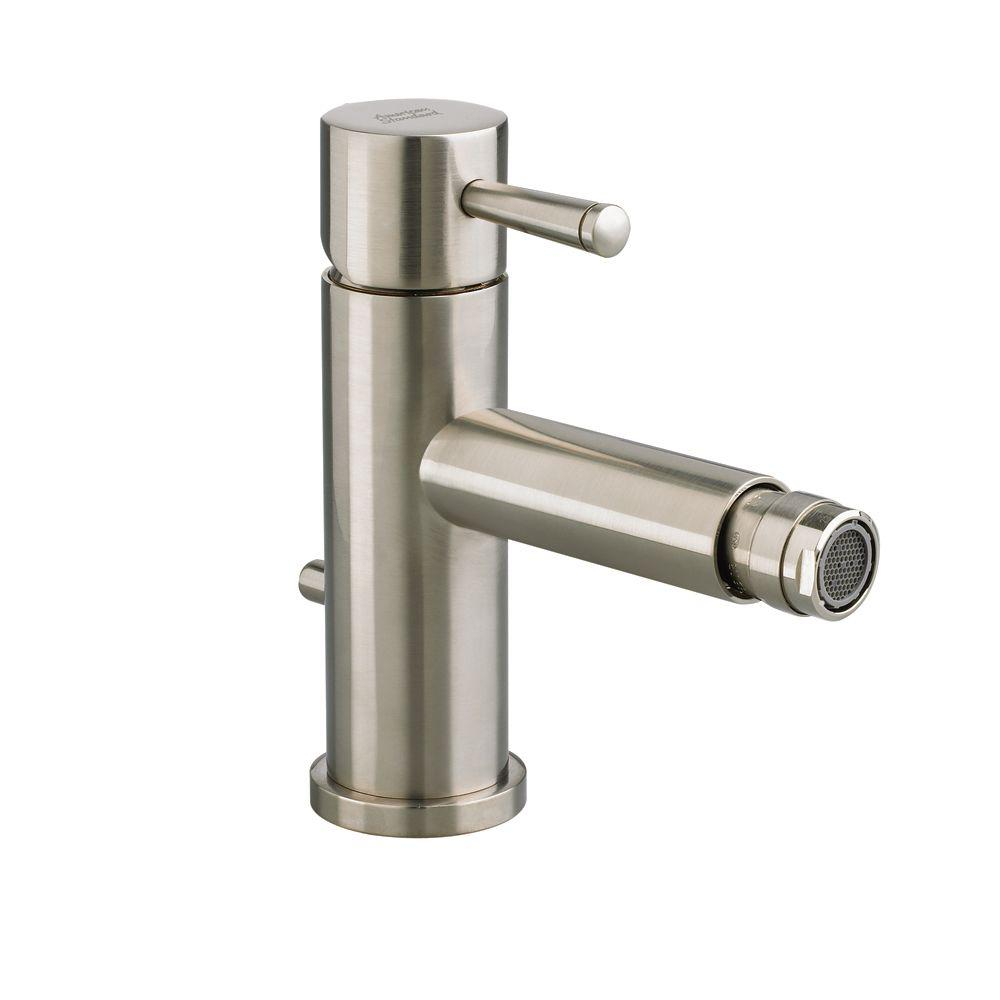 American Standard Serin Single Handle Bidet Faucet Brushed Nickel ...
