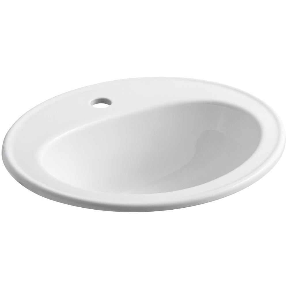 Kohler Pennington Drop In Vitreous China Bathroom Sink White