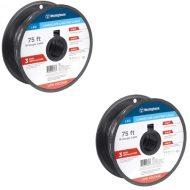 2x 75 ft. 18-Gauge Low Voltage Cable Landscape Lighting Wire (150ft Total)