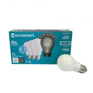 EcoSmart 60W Equivalent A19 Dimmable Frosted LED Daylight Light Bulb (4-Pack)