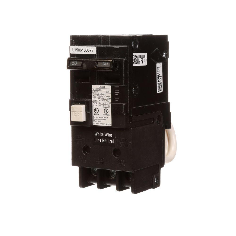 Murray 50 Amp Double Pole Type Mp Gt2 Gfci Circuit Breaker Garland Home Breakers