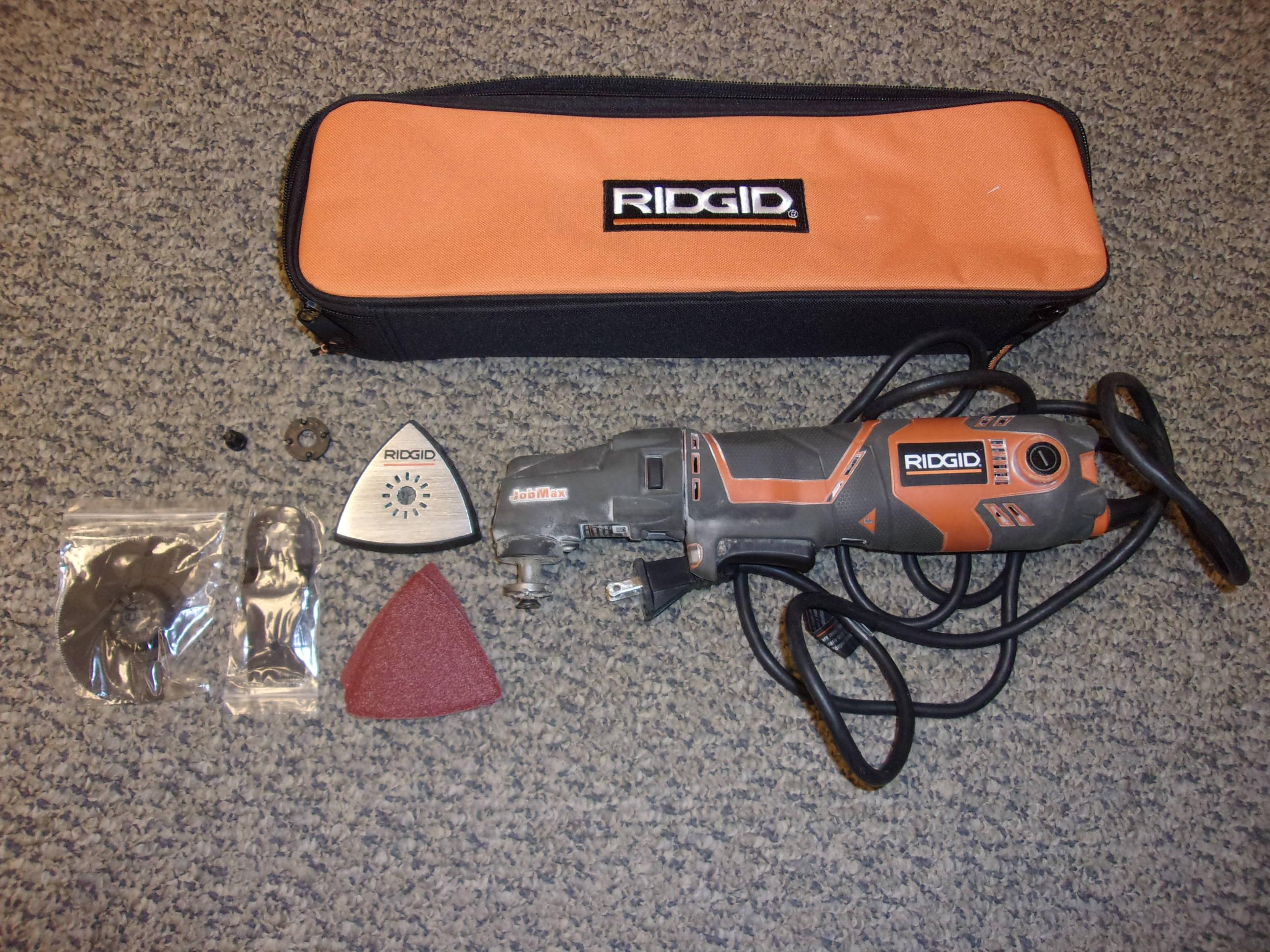 RIDGID 3 Amp Corded AC JobMax Multi-Tool Kit R2850B