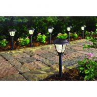 Hampton Bay Bronze Solar LED Pathway Outdoor Light (6-Pack)